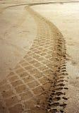 Het spoor van het zand Stock Foto