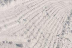 Het spoor van Snowcats Royalty-vrije Stock Foto