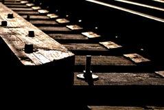 Het spoordetails van de spoorweg Stock Afbeeldingen