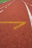 Het Spoorsteeg van het atletiekbegin royalty-vrije stock fotografie