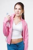 Het sportenmeisje met lang haar Stock Afbeeldingen