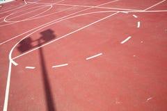 Het sportterrein van de school Stock Afbeeldingen
