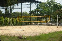 Het sportterrein van het strandvolleyball Stock Afbeelding