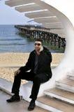 Het spreken bij het strand Royalty-vrije Stock Afbeelding
