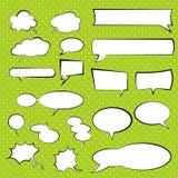 Het spreken en het denken vector vastgestelde bellen, grappige toespraakballon Royalty-vrije Stock Foto's