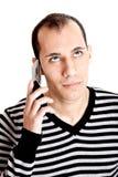 Het spreken op cellphone Royalty-vrije Stock Foto's
