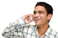 Het spreken op celtelefoon Royalty-vrije Stock Foto