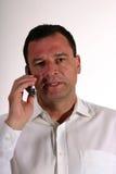 Het spreken op de telefoon Stock Fotografie