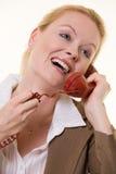 Het spreken op de telefoon royalty-vrije stock afbeeldingen