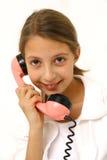 Het spreken op telefoon Stock Afbeeldingen