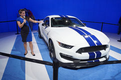 Het spreken over het GT350-Mustang Stock Foto