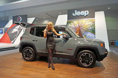 Het spreken over 2015 Jeep Renegade Stock Foto