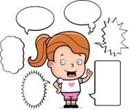 Het Spreken van het meisje Stock Foto's
