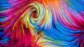 Het spreken van Kleurrijke Verf royalty-vrije illustratie