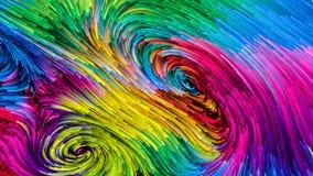 Het spreken van Kleurrijke Verf vector illustratie