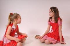 Het spreken van meisjes Stock Afbeelding