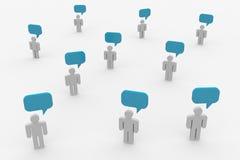 Het spreken van mensen. Concept globale gemeenschap. Royalty-vrije Stock Foto