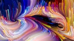 Het spreken van Vloeibare Kleur vector illustratie