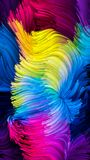 Het spreken van Vloeibare Kleur Stock Foto's