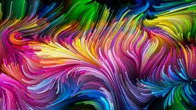 Het spreken van Vloeibare Kleur royalty-vrije illustratie