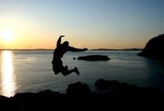 Het springen Royalty-vrije Stock Foto's