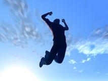 Het springen aan de hemel stock illustratie