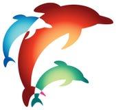 Het springen dolfijnen vector illustratie