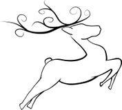 Het springen Kerstmisrendier Royalty-vrije Stock Fotografie