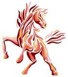 Het springen paard Stock Foto's
