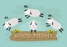 Het springen schapen met kleurenachtergrond Stock Afbeeldingen