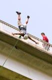 Het springen van Bungee Royalty-vrije Stock Foto
