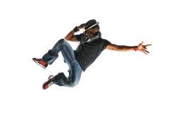 Het Springen van de Danser van Hip Hop royalty-vrije stock foto's