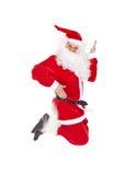 Het springen van de Kerstman Stock Fotografie