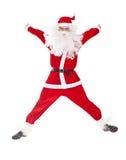 Het springen van de Kerstman Stock Foto