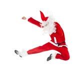 Het springen van de Kerstman Royalty-vrije Stock Fotografie