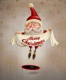 Het springen van de Kerstman Royalty-vrije Stock Afbeelding