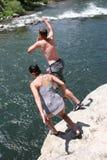 Het Springen van de klip Stock Afbeeldingen