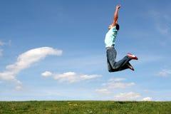 Het springen van de mens Stock Foto