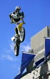 Het Springen van de Motorfiets van het vrije Royalty-vrije Stock Fotografie