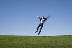 Het springen van de zakenman royalty-vrije stock fotografie
