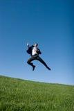 Het springen van de zakenman royalty-vrije stock foto