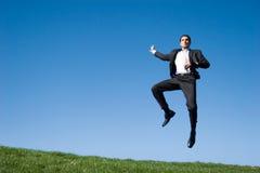 Het springen van de zakenman Royalty-vrije Stock Afbeelding