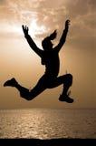 Het springen van de zonsopgang. 6:02 am. Stock Foto's