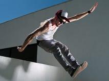 Het springen van een gebouw Royalty-vrije Stock Foto's