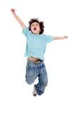 Het springen van het kind Stock Fotografie