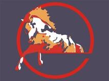 Het springen van het paard stock illustratie