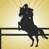 Het Springen van het paard Goud Stock Fotografie