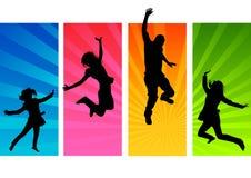 Het Springen van jonge Mensen Royalty-vrije Stock Foto's
