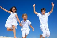 Het springen van kinderen Royalty-vrije Stock Afbeelding