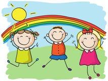 Het springen van kinderen vector illustratie